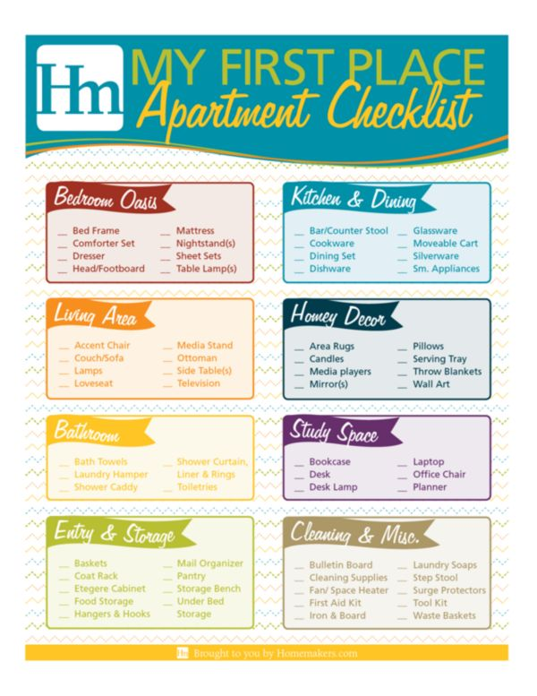 First Apartment Packing Checklist