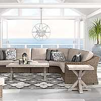 Ashley Beachcroft 3 Piece Outdoor Sectional