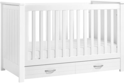 Million Dollar Baby Asher White 3-In-1 Crib