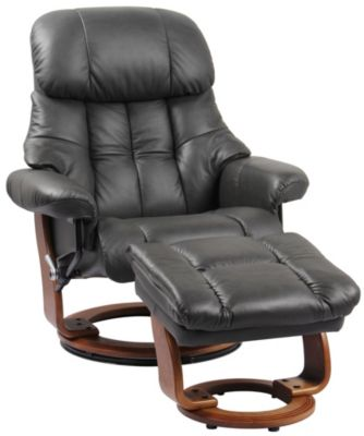 Benchmaster Nicholas Leather Recliner Chair And Ottoman