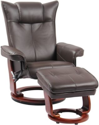 Benchmaster Carmel Leather Recliner & Ottoman
