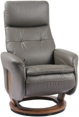 Benchmaster Tripoli Leather Recliner with Flip-up Footrest