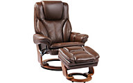 Benchmaster Hana Leather Recliner & Ottoman