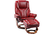 Benchmaster Hana Leather Recliner Chair & Ottoman