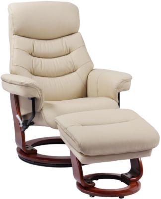 Benchmaster Happy Leather Reclining Chair & Ottoman