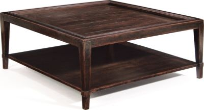 Bernhardt Casegoods Vintage Patina Square Coffee Table