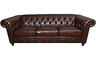 Bernhardt London Club 100% Leather Chesterfield Sofa