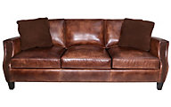 Bernhardt Normandy 100% Leather Sofa