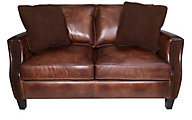 Bernhardt Normandy 100% Leather Loveseat