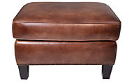 Bernhardt Normandy 100% Leather Ottoman