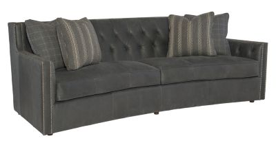Superieur Bernhardt Candace 100% Leather Sofa