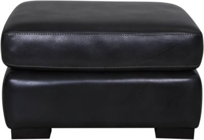 Germaine 100% Leather Ottoman