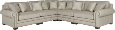 Bernhardt Grandview 100% Leather 5-Piece Sectional