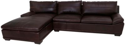 Bernhardt Prescott 100% Leather 2-Piece Sectional