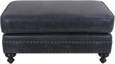 Bernhardt London 100% Leather Ottoman