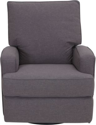 Best Chair Kersey Gray Swivel Glider Recliner