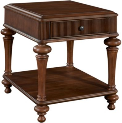 Broyhill Cascade End Table With Drawer Homemakers Furniture