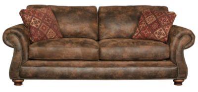 Broyhill Laramie Microfiber Sofa With Nailhead