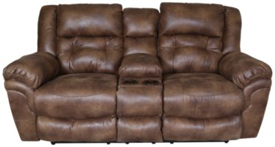 Catnapper Joyner Power Lay-Flat Loveseat with Console
