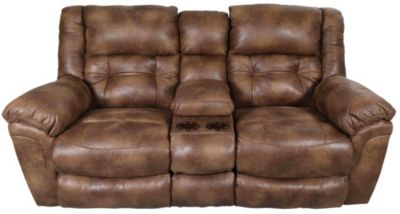 Catnapper Lay-Flat Loveseat with Console