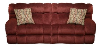 Catnapper Siesta Red Reclining Lay-Flat Sofa