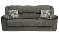 Catnapper Transformer Gray Triple Reclining Sofa