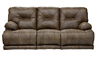 Catnapper Voyager Brown Power Triple Recline Sofa
