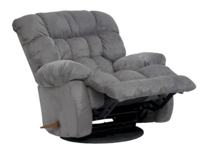 Catnapper Teddy Bear Gray Swivel Glider Recliner
