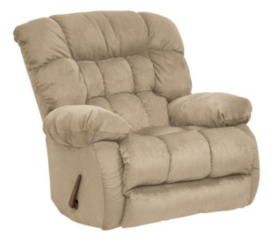 Catnapper Teddy Bear Cream Swivel Glider Recliner