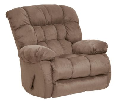 Catnapper Teddy Bear Tan Swivel Glider Recliner