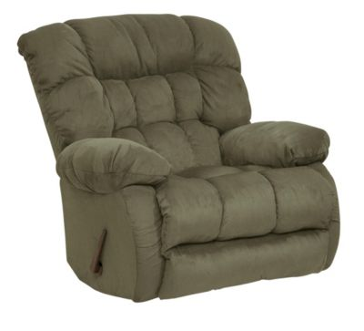 Catnapper Teddy Bear Sage Swivel Glider Recliner