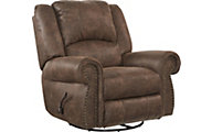 Catnapper Westin Chocolate Swivel Glider Recliner