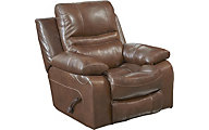 Catnapper Patton Mocha Leather Glider Recliner