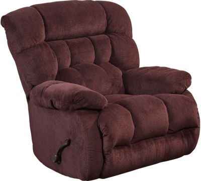 Catnapper Daly Burgundy Swivel Glider