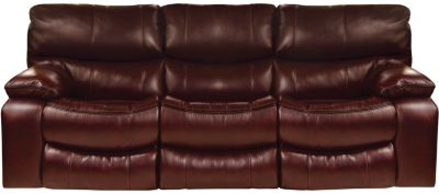 Catnapper Camden Brown Power Lay-Flat Reclining Sofa