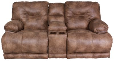 Catnapper Voyager Power Recline Lay-Flat Loveseat w/Console