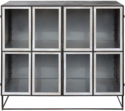 Creative Co-Op Collected Notions Black Metal Cabinet