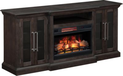 Classic Flame/Tresanti Grand Media Mantel Log Fireplace