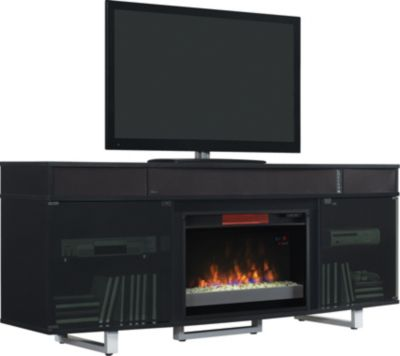 Classic Flame/Tresanti Enterprise 72-Inch Black Media Mantel Fireplace