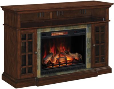 Classic Flame/Tresanti Lakeland Media Mantel Log Fireplace