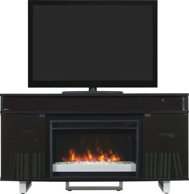 Classic Flame/Tresanti Enterprise 56-Inch Black Fireplace TV Stand