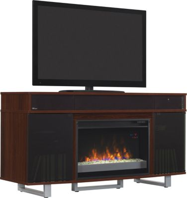 Classic Flame/Tresanti Enterprise 56-Inch Cherry Media Mantel Fireplace