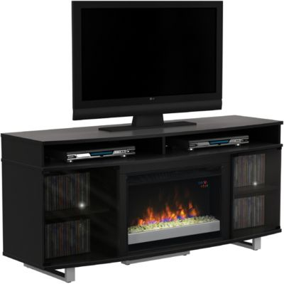 Classic Flame/Tresanti Enterprise 64-Inch Black Fireplace