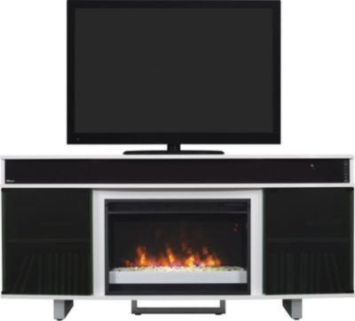 Classic Flame/Tresanti Enterprise 72-Inch White Fireplace