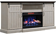 Classic Flame/Tresanti Cabaret White Log Fireplace