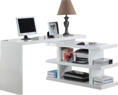 Chintaly 6915 Collection White Corner Desk