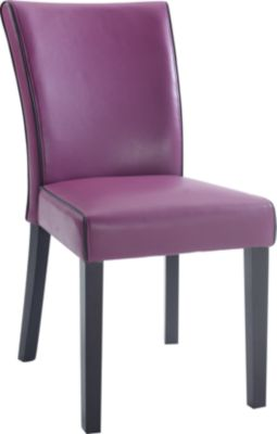Chintaly Michelle Purple Parsons Chair