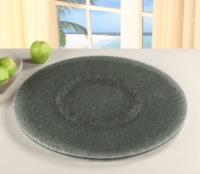 Chintaly Gray Crackled Lazy Susan