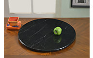 Chintaly Black Marble Lazy Susan
