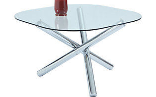 Chintaly Leatrice Square Glass Table